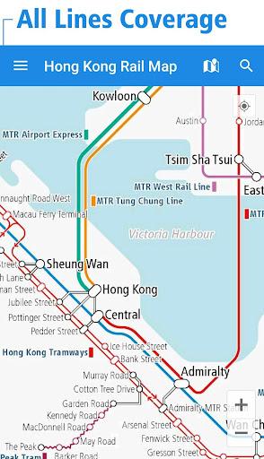 Hong Kong Rail Map - MTR Tram