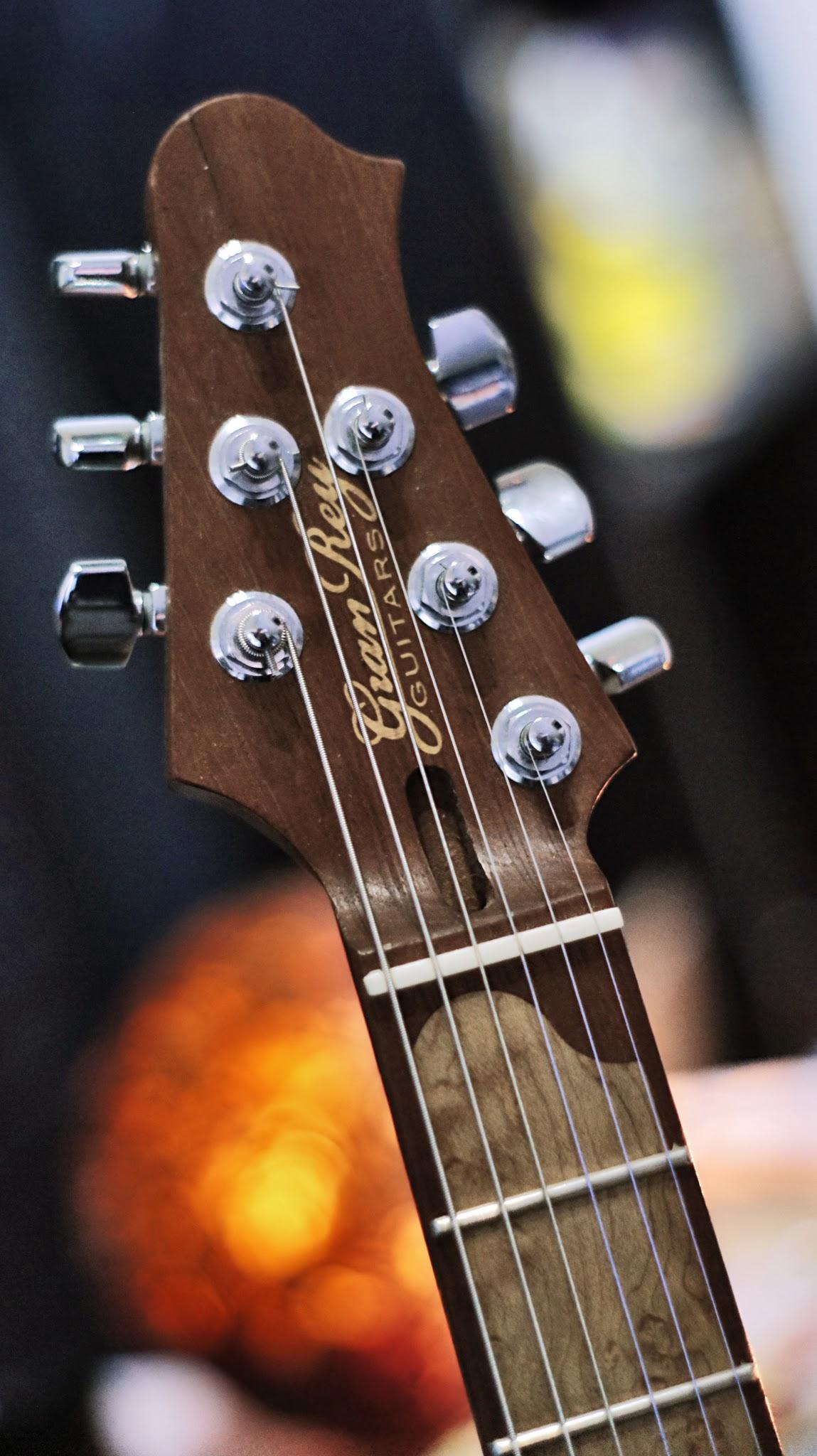 Photo: Guitar headstock