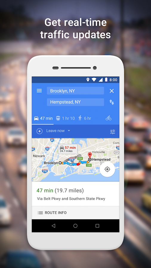 Get real-time traffic updates