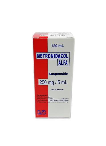metronidazol 250mg/5ml 120m suspensión alfa