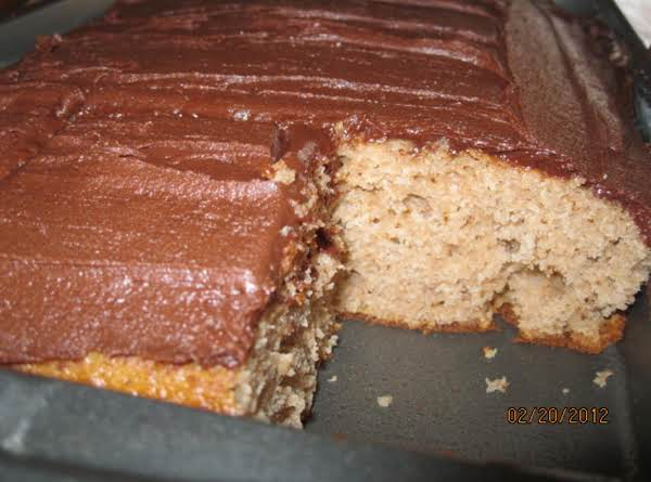 Spice Cake And Chocolate Frosting -gladys' Recipe