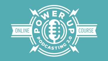 Teal Logo Power-Up Podcasting 2.0