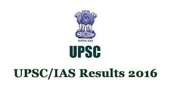 UPSC Result 2016 for IAS