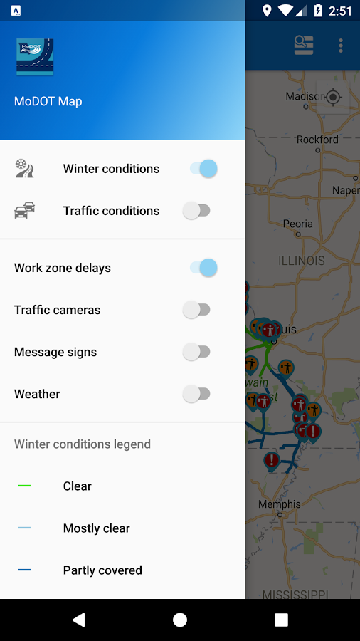 MoDOT Traveler Information- screenshot