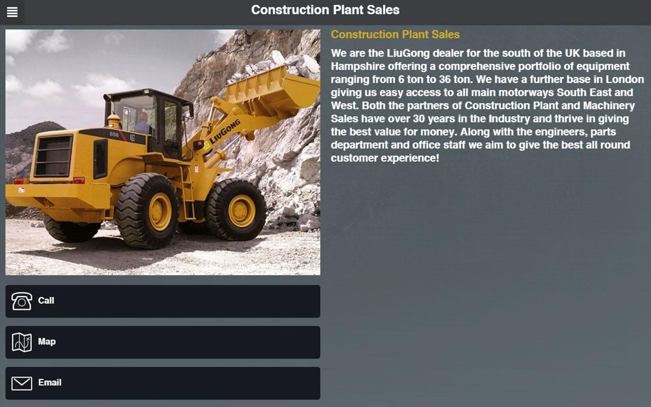 Construction Plant Sales- screenshot