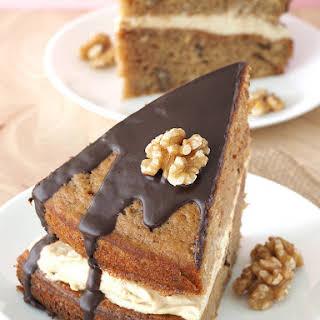 Coffee and Walnut Layer Cake.