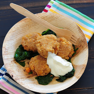 [Fish Cakes with Wilted Spinach].