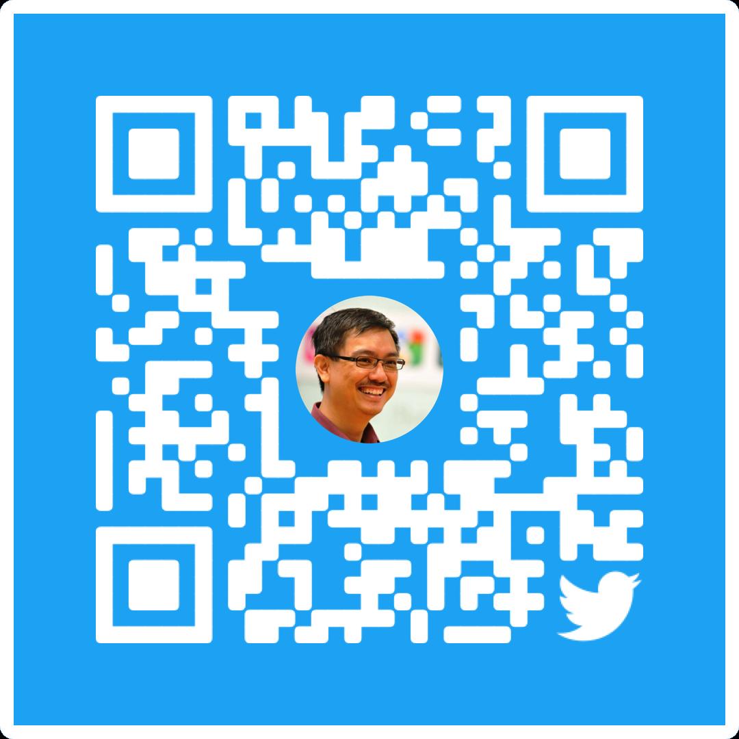 My Twitter QR code.
