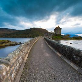 Eilean Donan Castle by Niroshan Muwanwella - Buildings & Architecture Public & Historical ( clouds, scottish, castle, bridge, isle of skye )