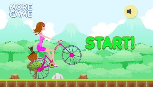 Biker Girl Hill Climb Racing