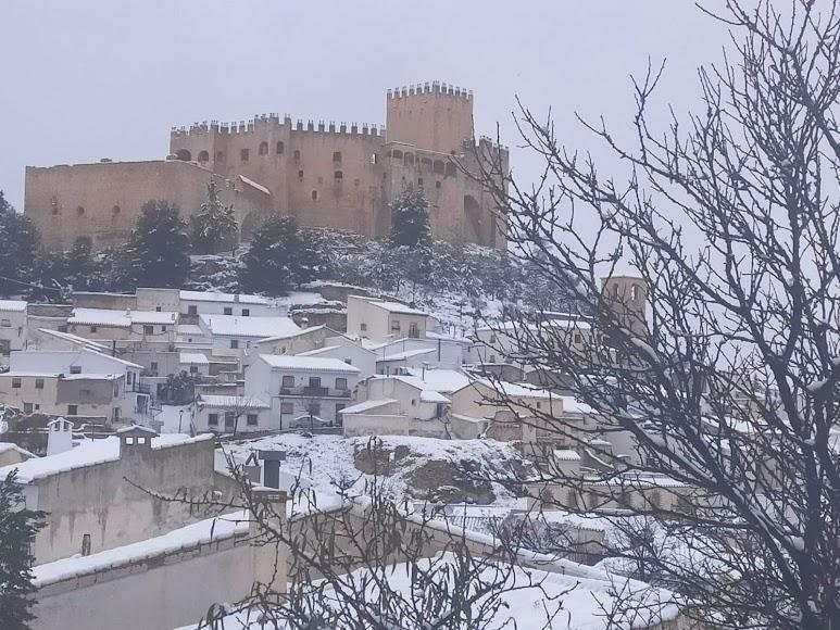 La nieve llegó a la provincia de Almería con el temporal de Filomena.