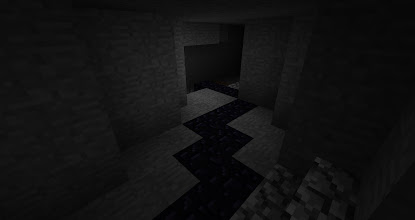 Photo: The caves through which the obsidian track goes are dimly lit and winding.