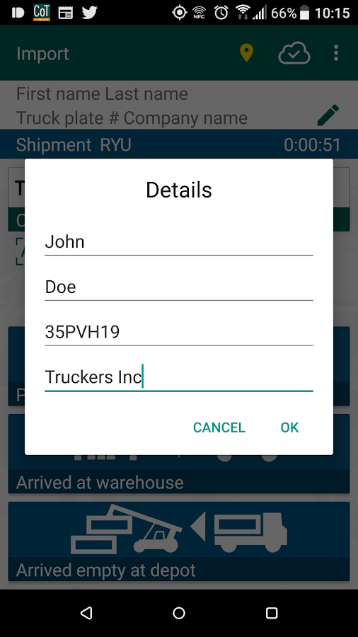 Last Mile Container Tracker- screenshot