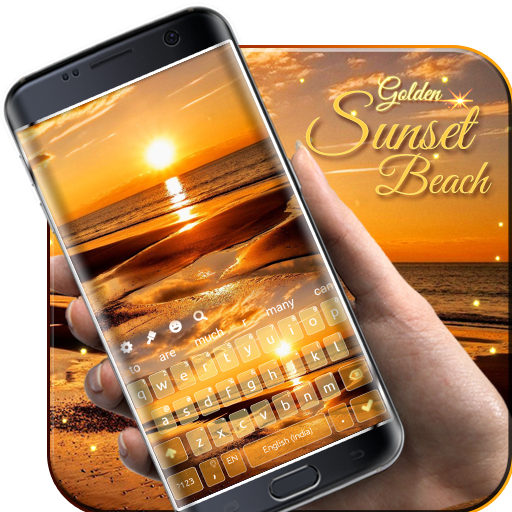 Golden Beach Sunset Keyboard Android APK Download Free By Geisha Tokyo, Inc.