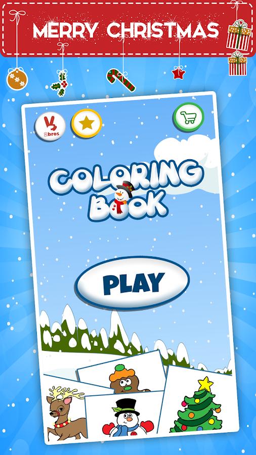 Kids Coloring Book Christmas Screenshot