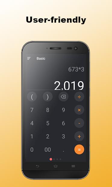 Calculator+ Android App Screenshot