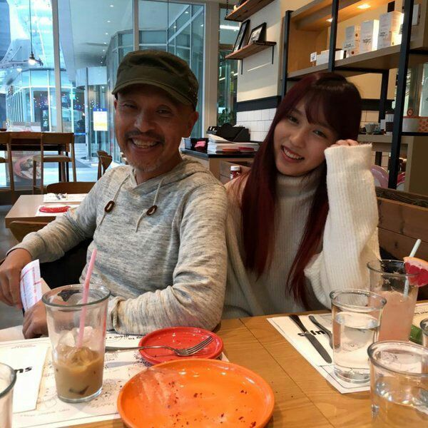 mina and dad