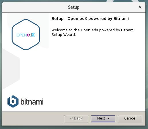 Figura 4 - Iniciar el instalador del Stack de Bitnami para Open edX