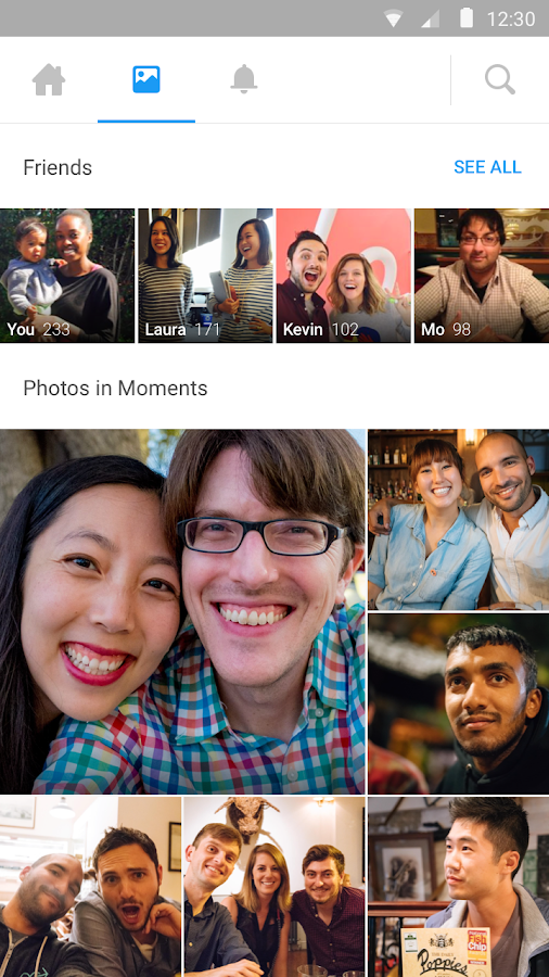 Moments by Facebook- screenshot