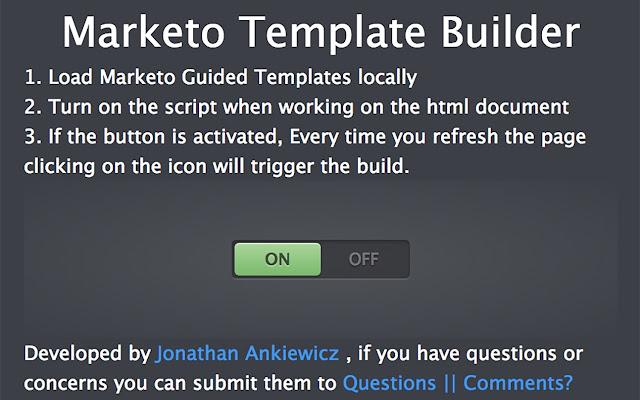 Marketo Guided Template Builder