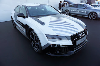 Photo: Bobby is the Audi that raced against human drivers on the track, making 97% of their time