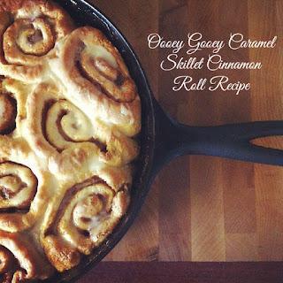 Oooey Gooey Caramel Skillet Cinnamon Roll