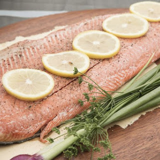Easy Oven-Baked Salmon With Herbs.
