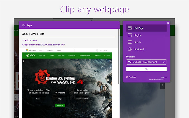 OneNote Web Clipper - Chrome Web Store
