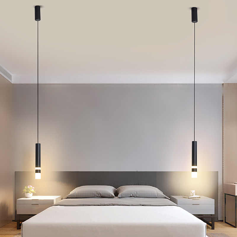 Modern Long Cable Bedroom Pendant Light Ideas