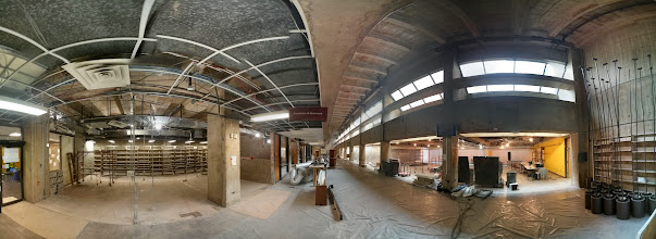 Photo: Photo sphere of current renovation progress. I took this from the front of the library - the service desk would have been to the right and the administrative office to my left.