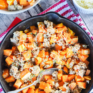 Ground Turkey Sweet Potato Hash.