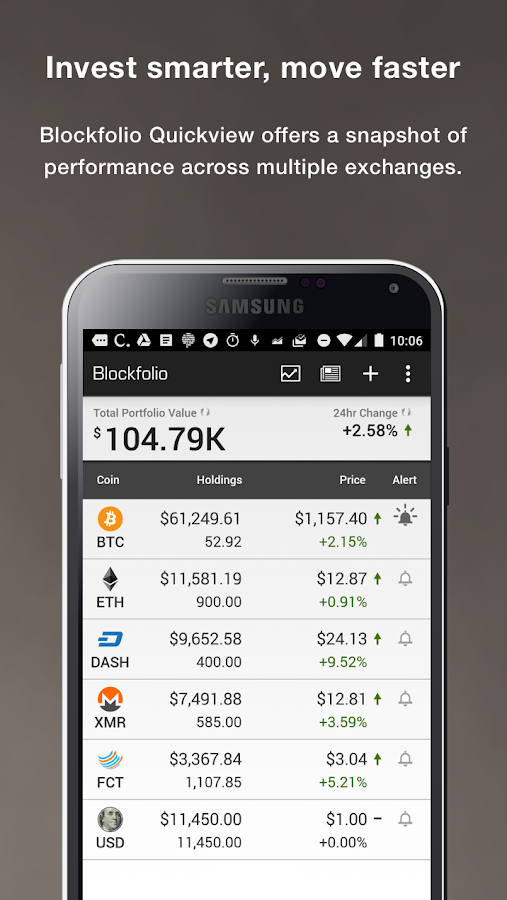Blockfolio Bitcoin/Altcoin App- screenshot