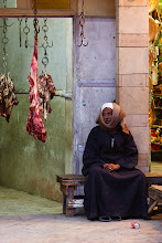 Photo: Meat trader. Luxor, Egypt