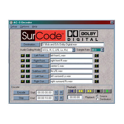 Surcode for dolby digital® 5 1 encoder and decoder download