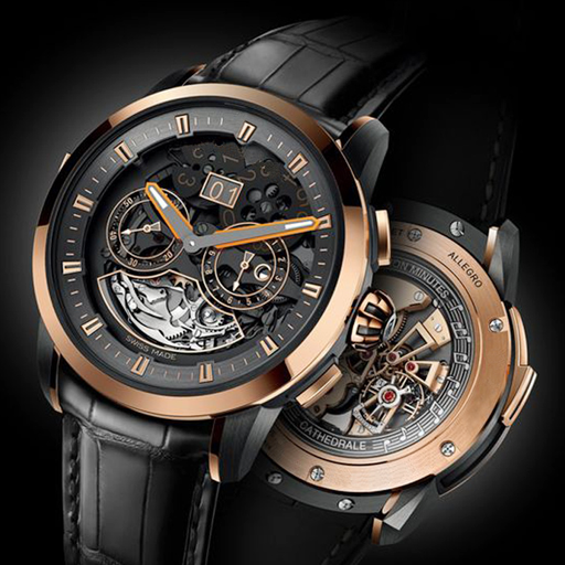 Luxury Gold Black Watch Theme Android APK Download Free By Android Theme Studio