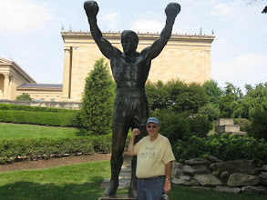 Photo: In front of the Rocky! statue in Philadelphia.