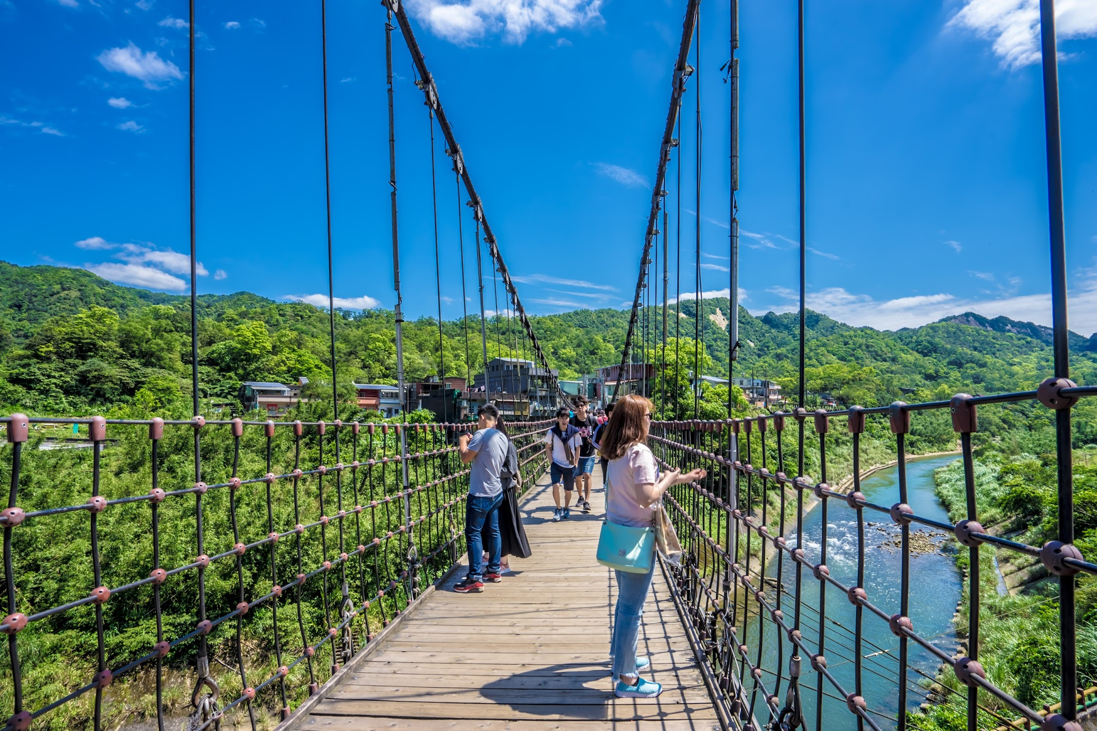 Shifen Jingan Suspension Bridge2