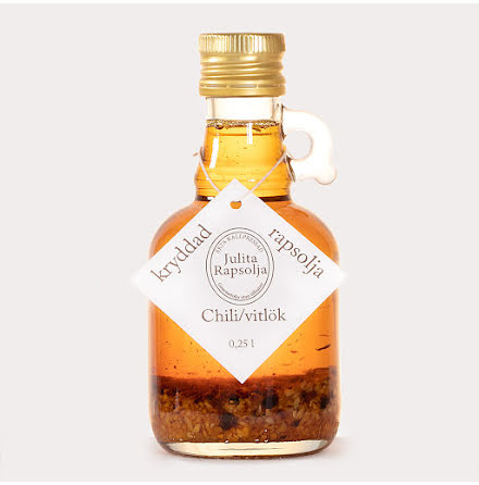 Rapsolja, Kallpressad med Chili & Vitlök