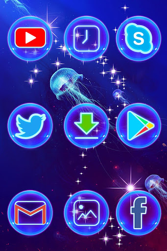 Best Blue Launcher For Android  screenshots 4