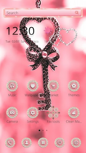 Download Pink Love Lock Theme Valentine Apk Latest Version