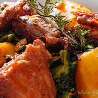 Portuguese Roasted Lamb with Vegetables