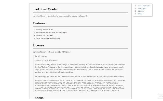 Markdown Reader