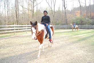 Photo: Horseback riding in the winter at WoHeLo Stables.