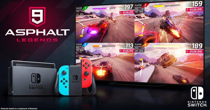 Asphalt 9: Legends เปิดให้เล่นฟรีบน Nintendo Switch