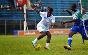Photo: Abdulai Baggie  [Training game against u-20 National team, ahead of Leone Stars v Seychelles Game in Freetown on 19 July 2014 (Pic: Darren McKinstry)]