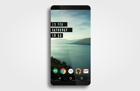 Typographical Zooper Theme- screenshot thumbnail
