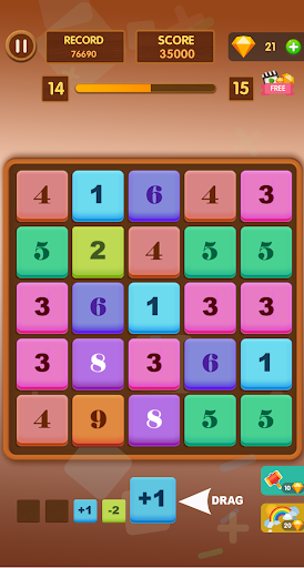 Number Game - Math-3 Game - Merge Block Raising 1.1 screenshots 1