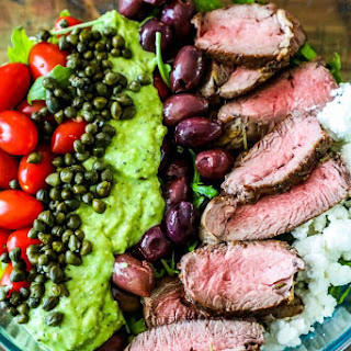 Creamy Avocado Steak Salad.