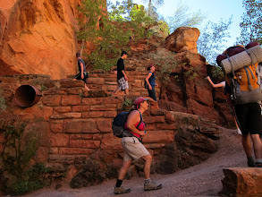 Photo: Walters Wiggles has 21 short switchbacks up to Scout Lookout - where the .05 mile ridge to Angel's Landing starts...