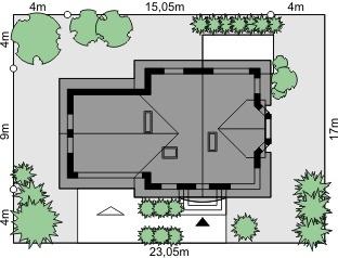 Dom przy Przyjaznej 9 - Sytuacja